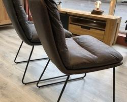 Collection chaise tissus et métal