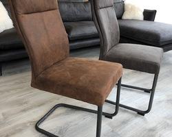Chaise industriel tissus et métal